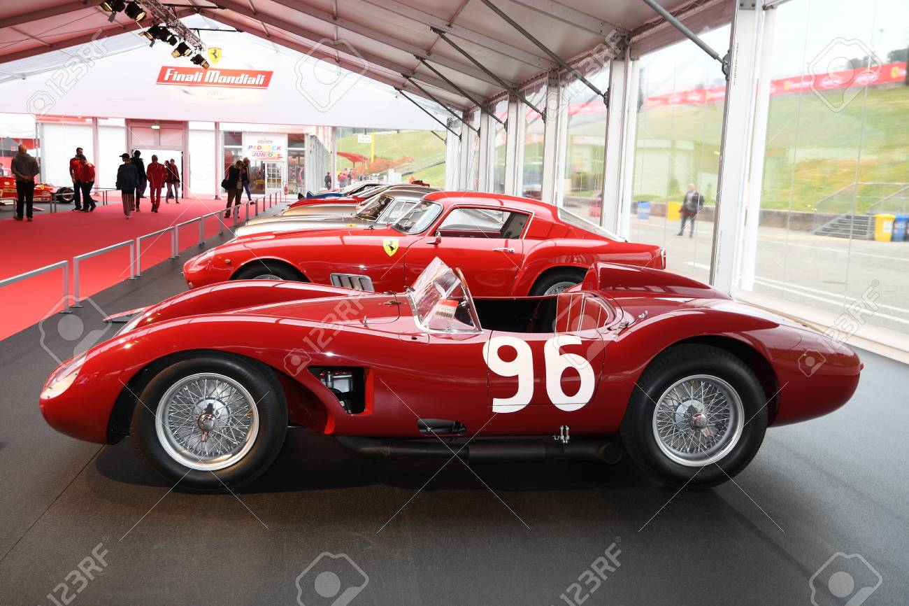 Mugello It October 2017 Vintage Ferrari 500 Trc 1957 At Paddock Stock Photo Picture And Royalty Free Image Image 92807708