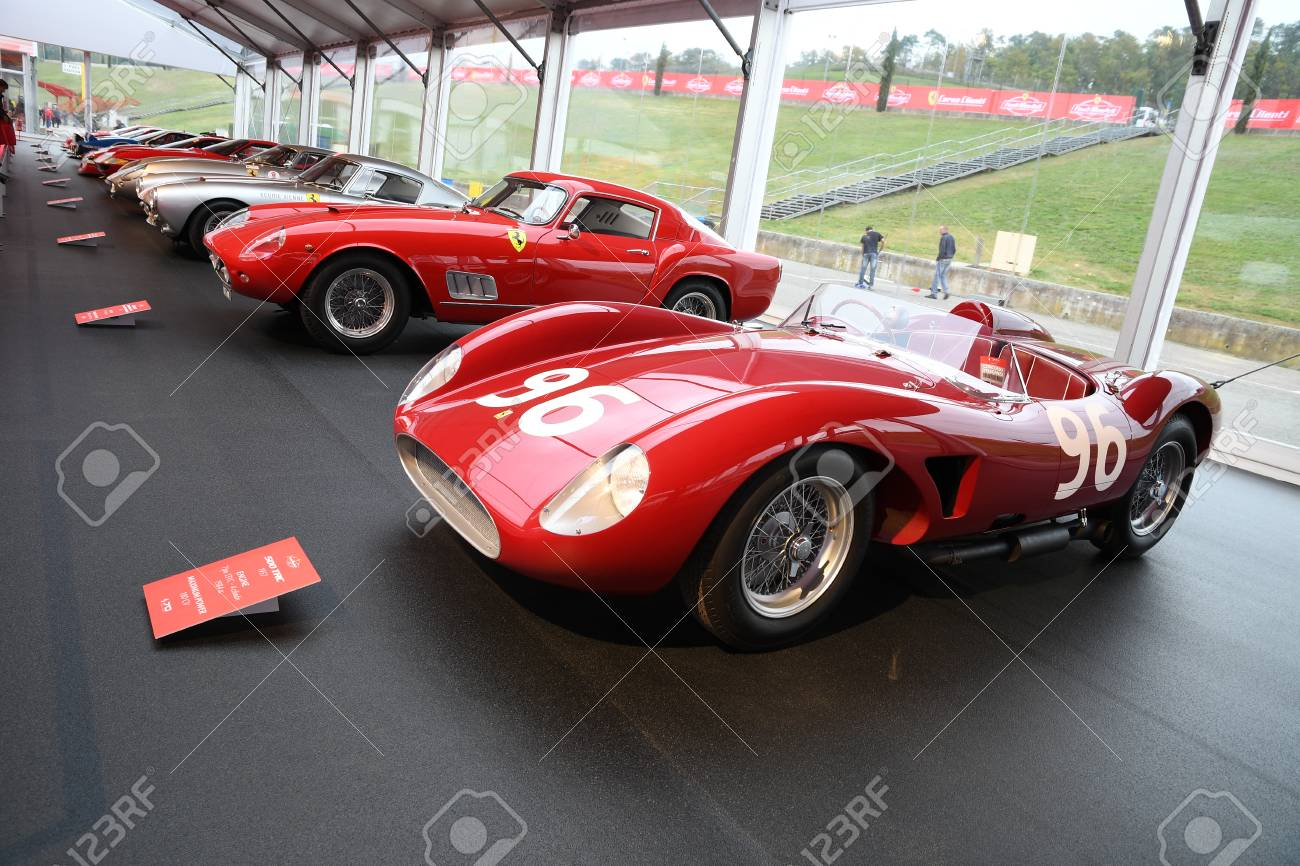 Mugello It October 2017 Vintage Ferrari 500 Trc 1957 At Paddock Stock Photo Picture And Royalty Free Image Image 92968641