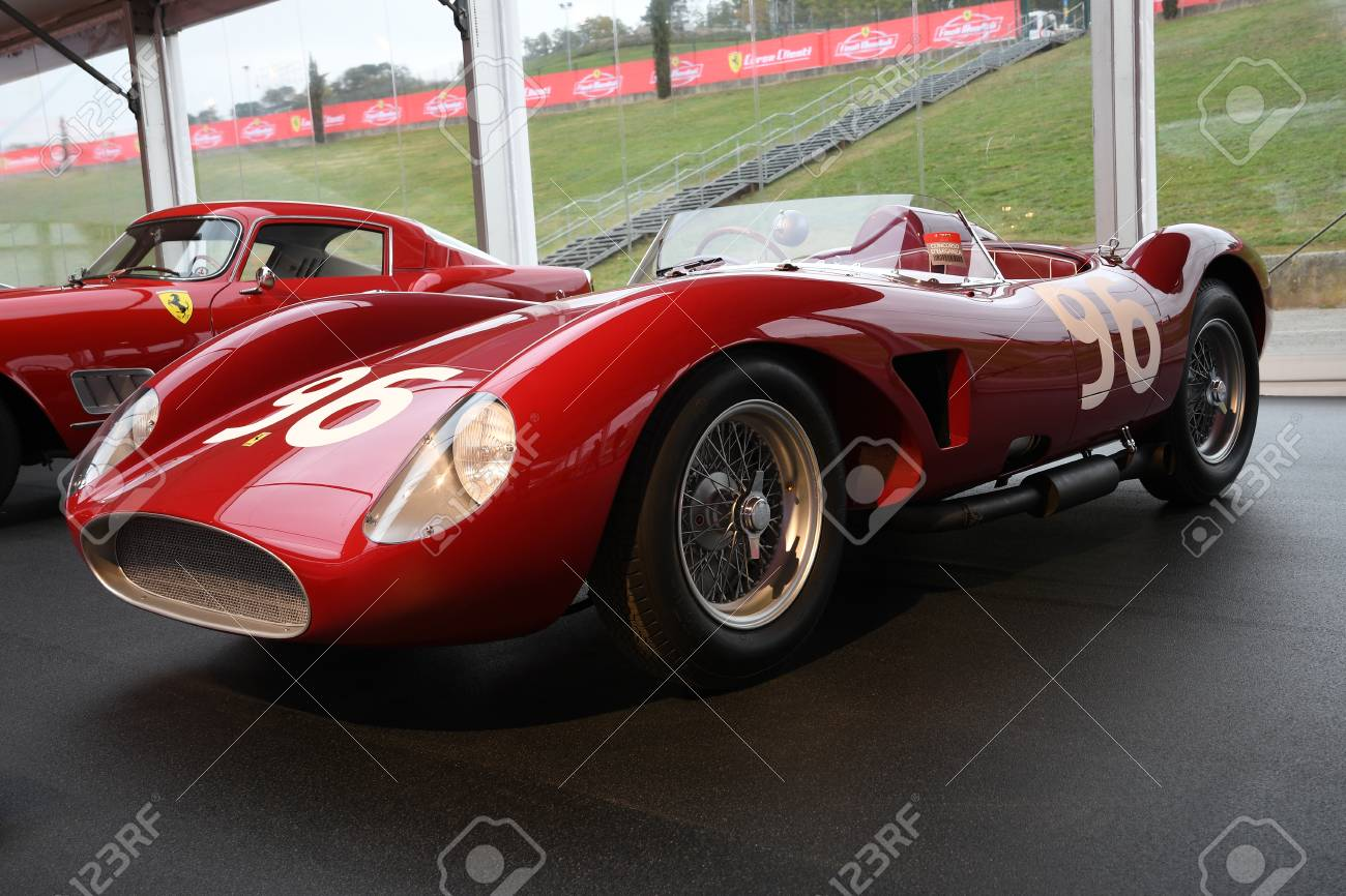 MUGELLO, IT, October, 2017 Vintage Ferrari 500 TRC 1957 at Paddock..