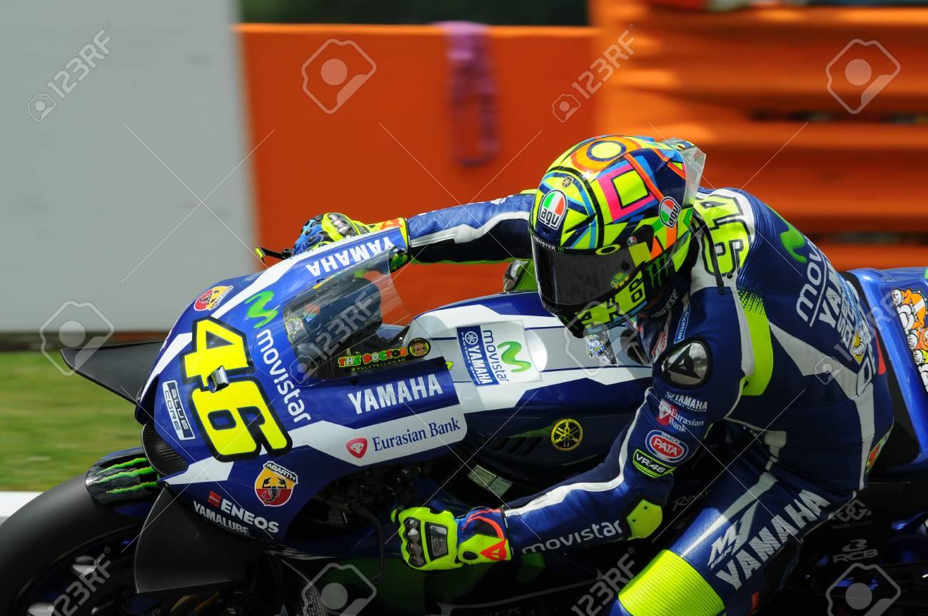 Mugello Italy May 21 Italian Yamaha Rider Valentino Rossi