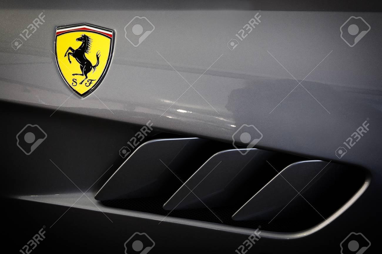 Scarperia Florence Italy March 2018 Ferrari Logo On Sport