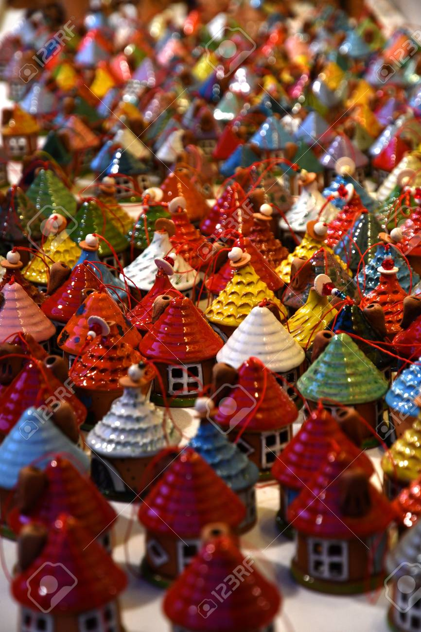 Little Christmas Italy.Florence November 2018 Christmas Ornaments In A Christmas Market