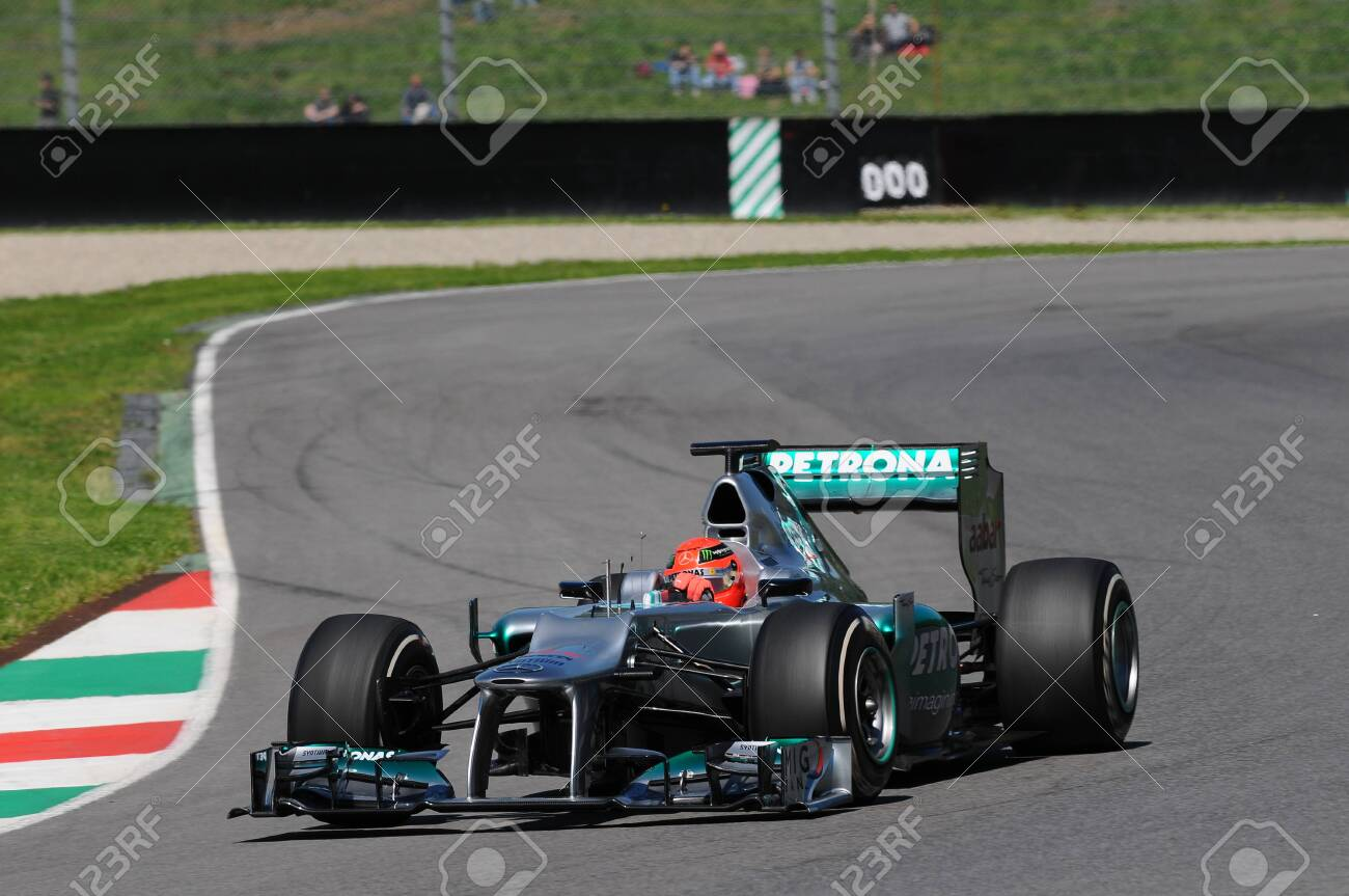 Mugello Italy May 2012 Michael Schumacher Of Mercedes F1 Stock Photo Picture And Royalty Free Image Image 116311449