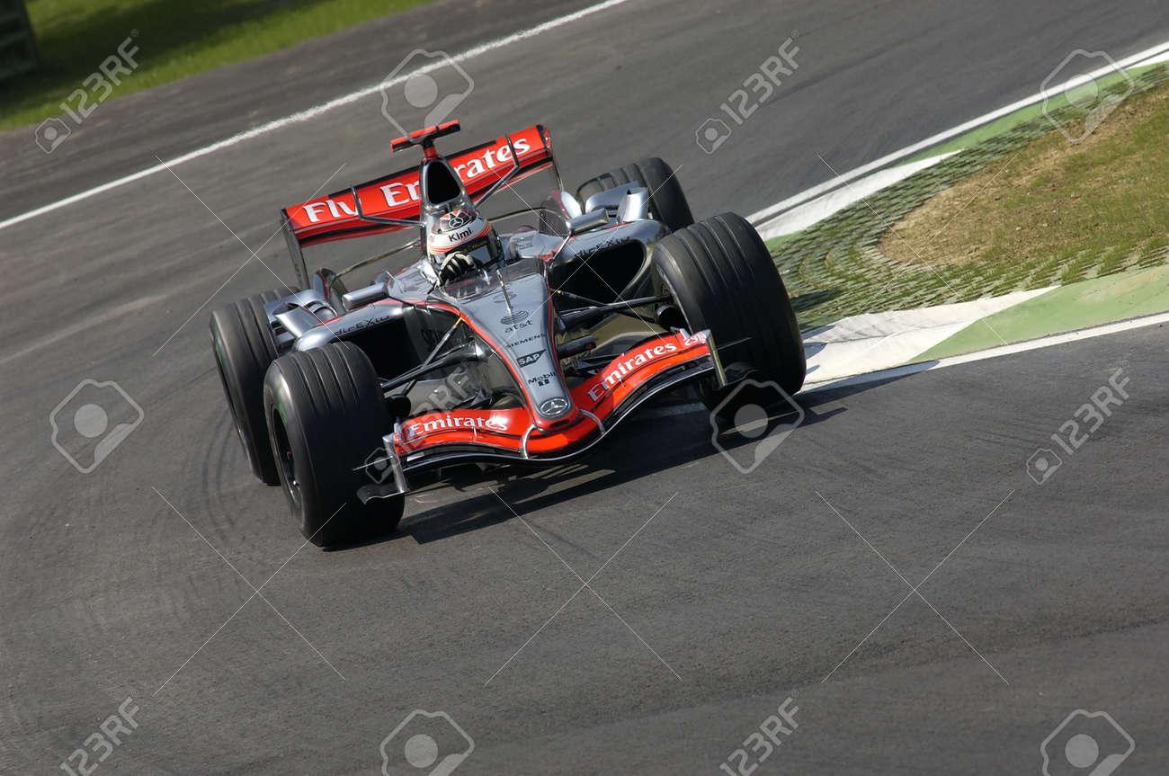 Imola, Italy - 23 April 2006: F1 World Championship. San Marino Grand Prix, Kimi Raikkonen in action on McLaren MP4-21 during practice. - 157480982
