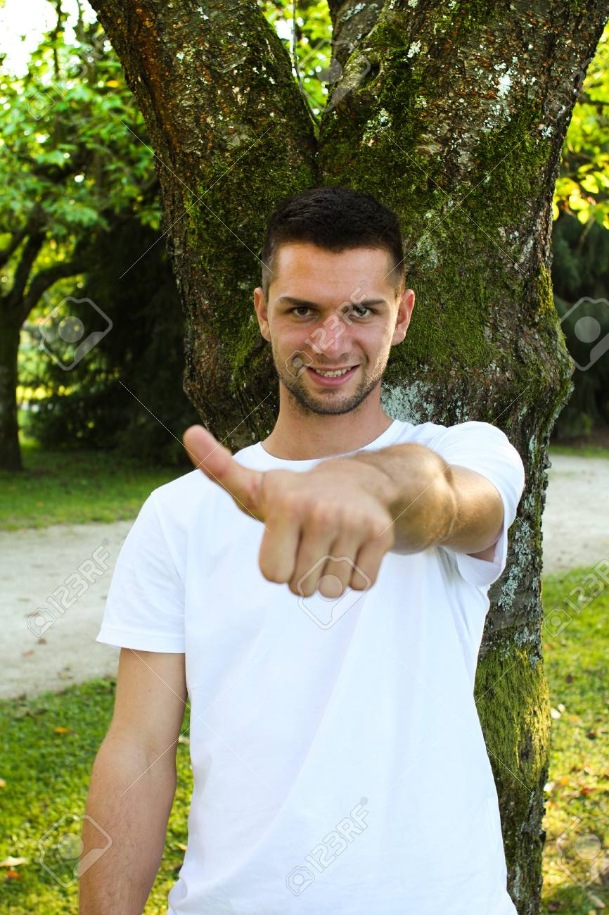 Man with thumb up Stock Photo - 10762556