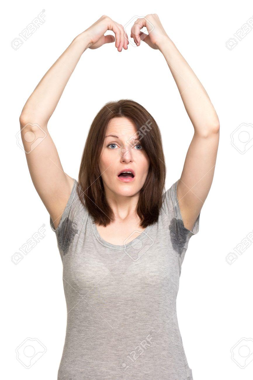 femme transpiration