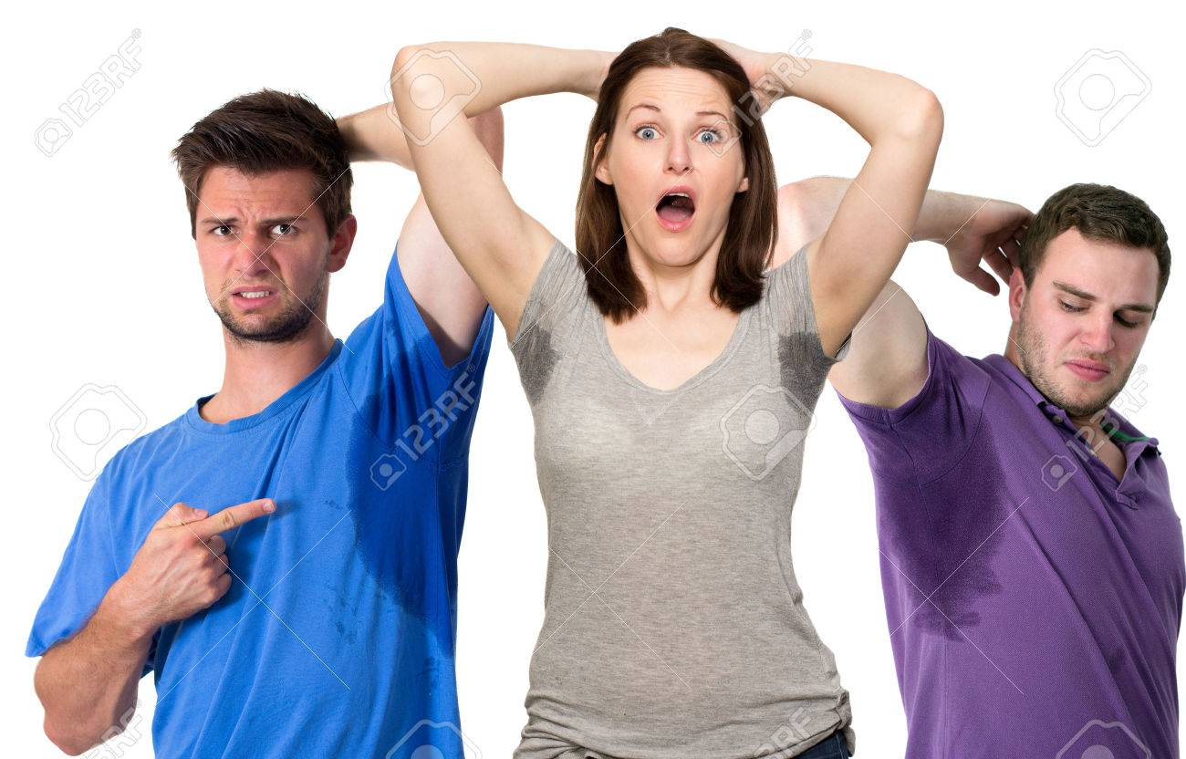 Composite of sweating people Stock Photo - 25603469
