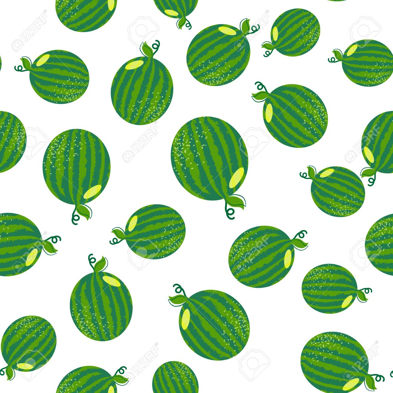 ea2c4b15 Stock Photo - Vector watermelon seamless pattern. Background for summer.  Food vector texture. Green watermelon. Summer wallpaper. Fits for t-shirt  print ...