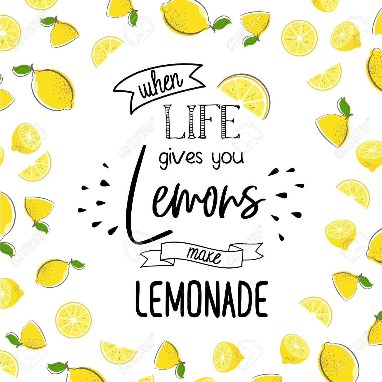 When Life Give You Lemon Make Lemonade Stock Photo Picture And Royalty Free Image Image 105350564