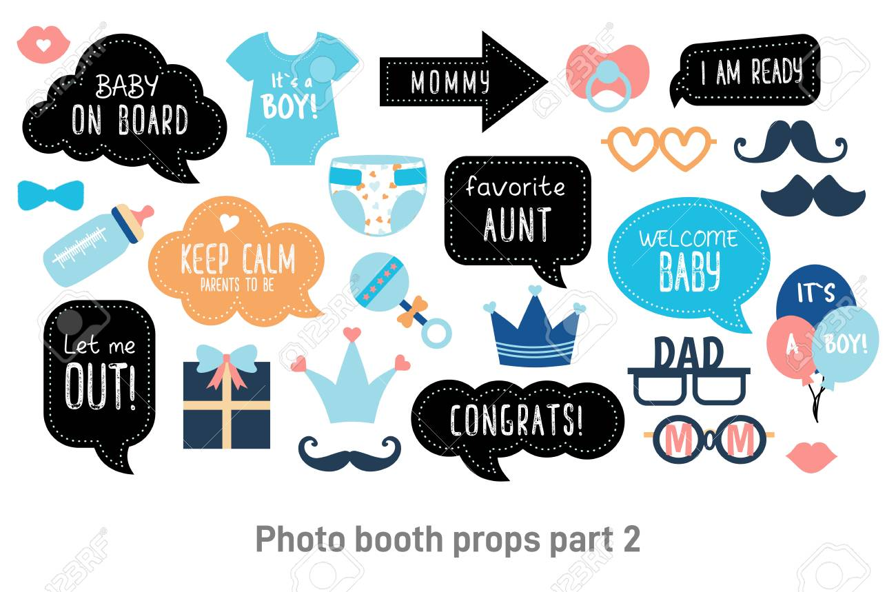 baby shower photo booth props happy birthday party for boy