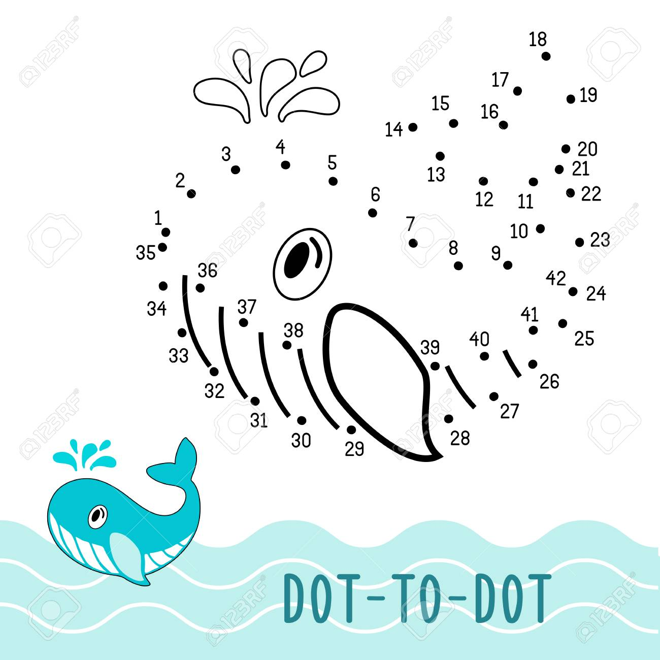 Education Dot To Dot Game. Number Game For Children. Connect Dots ...