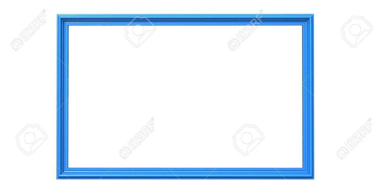 Representación 3d Del Marco De La Foto De Color Del Cielo Azul ...