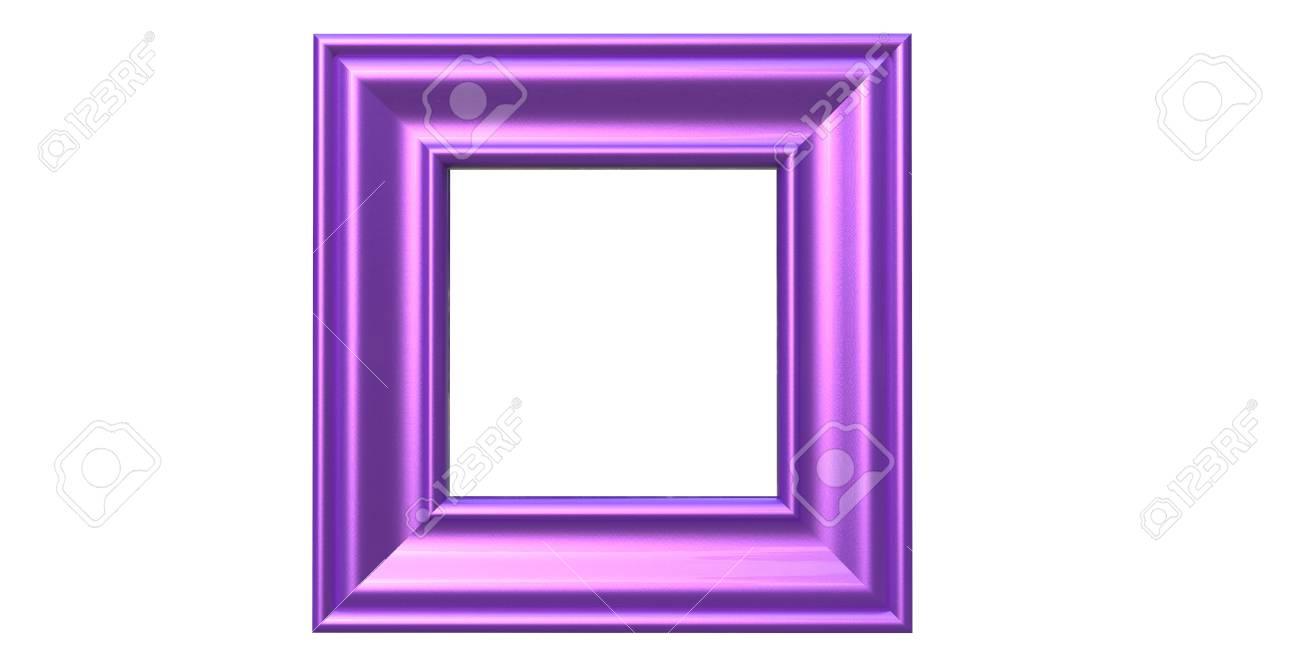 Representación 3d Del Marco De La Foto De Color Púrpura Brillante ...