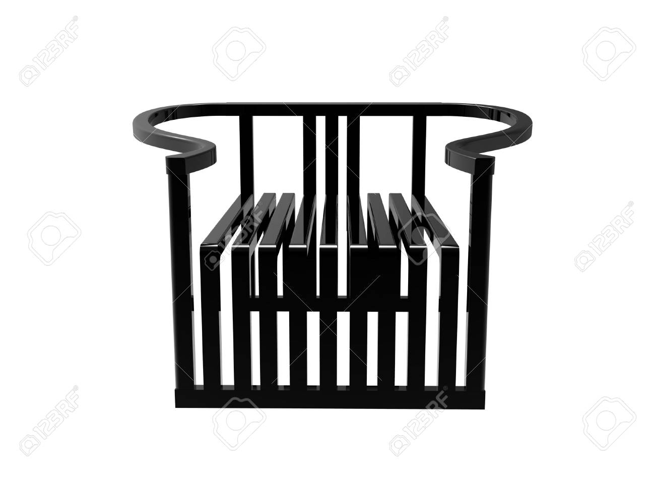 Admirable Render Of A Black Modern Chinese Ming Chair Isolated On A White Gmtry Best Dining Table And Chair Ideas Images Gmtryco