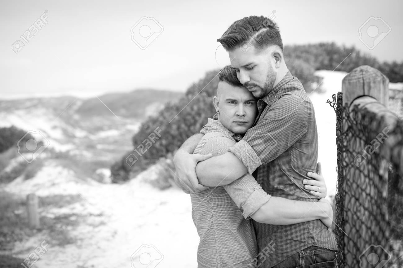 Gay embace photo