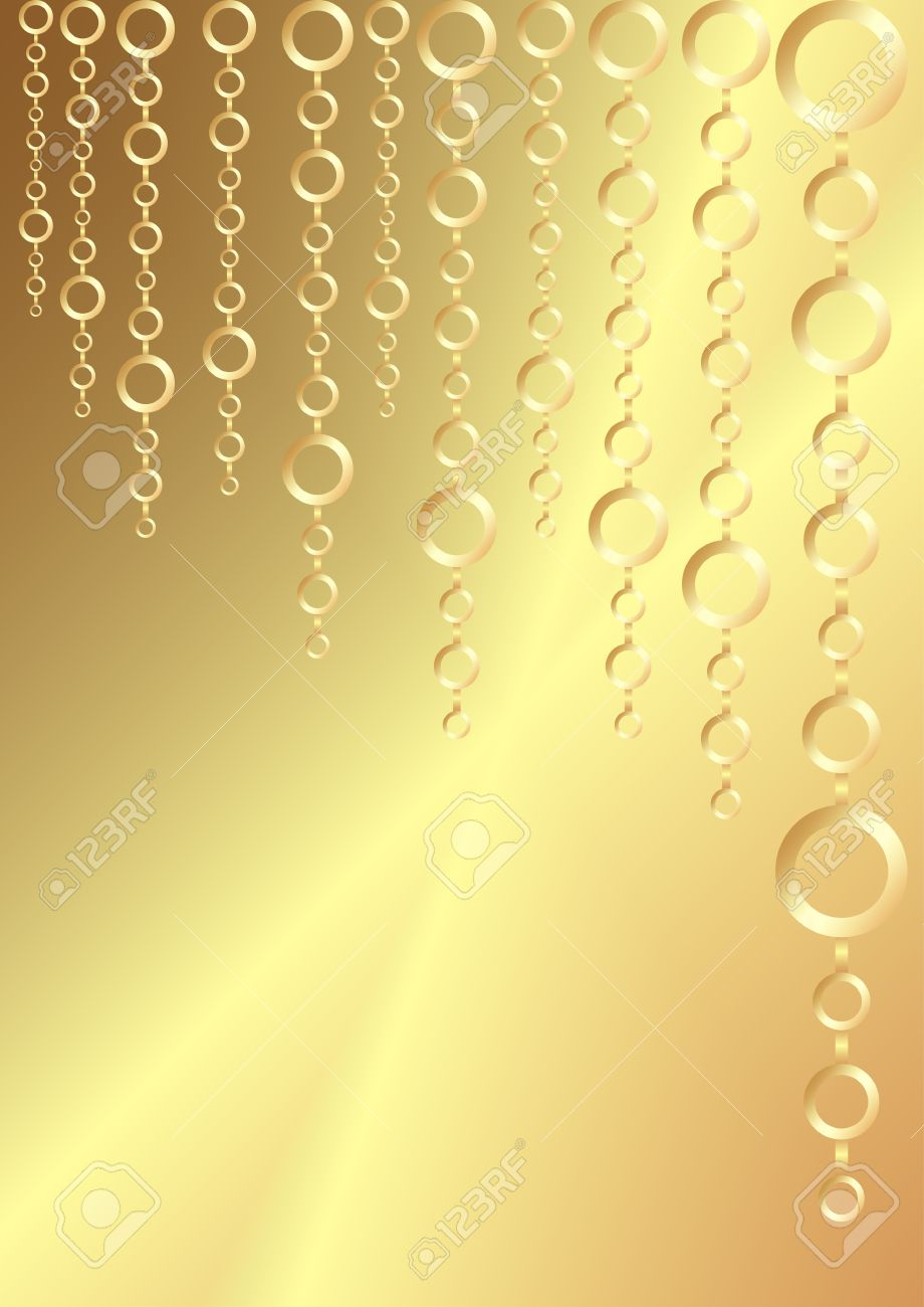 greeting christmas background in golden colors vertical orientation