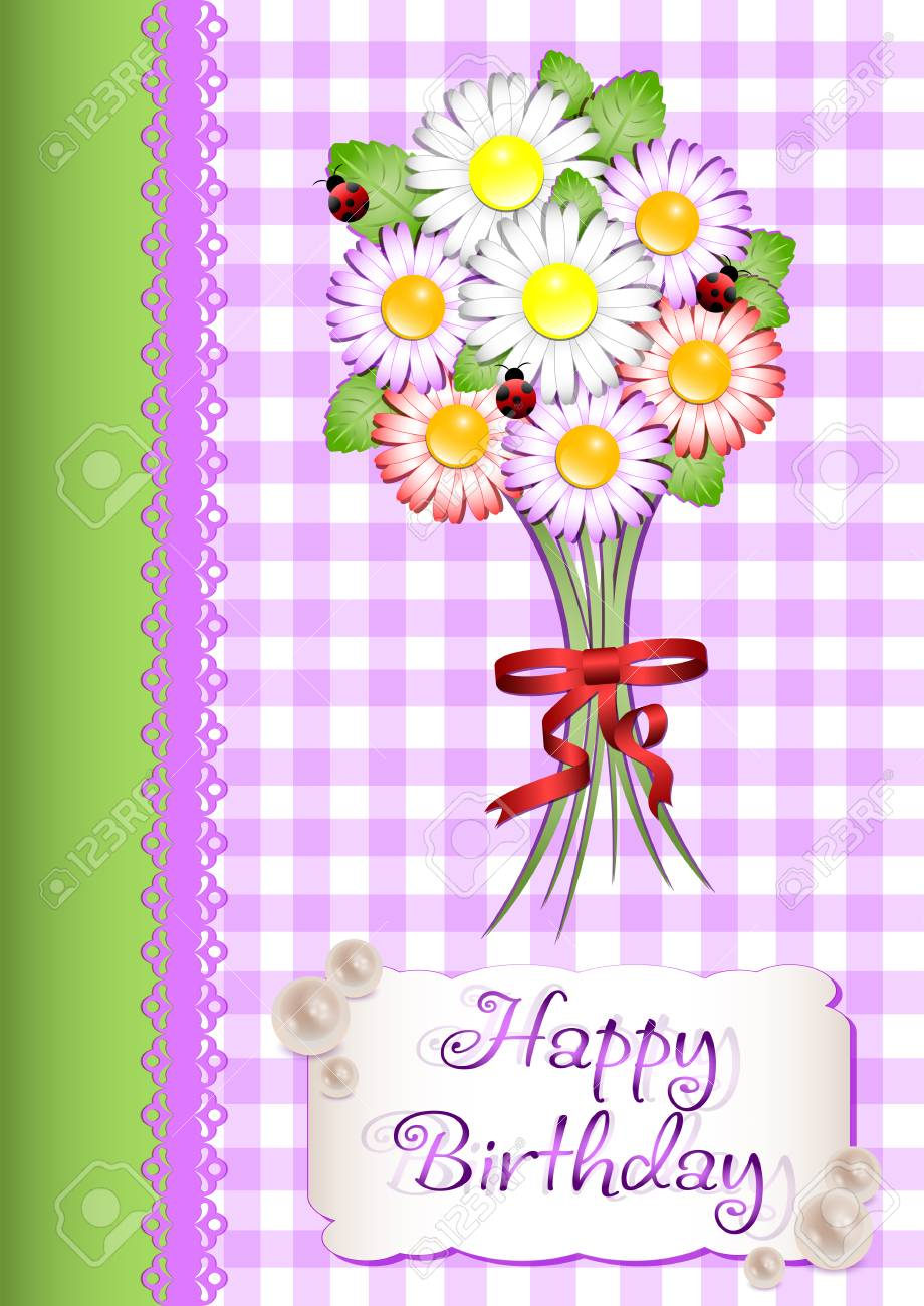 Cute Greeting Card In Scrapbooking Style For Congratulations