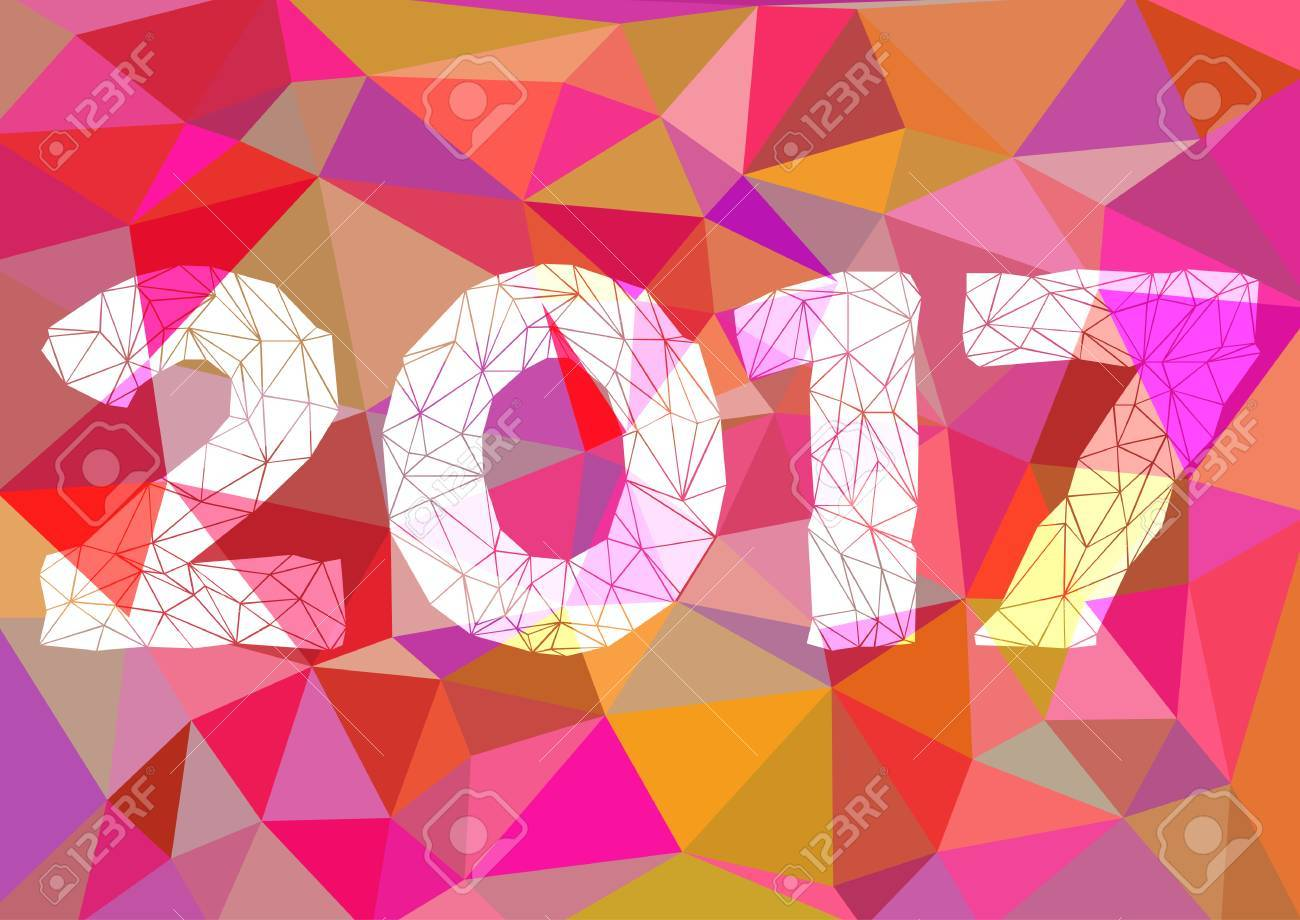 abstract polygonal background triangular or nt in pink abstract polygonal background triangular or nt in pink and year 2017 for binding or fliers