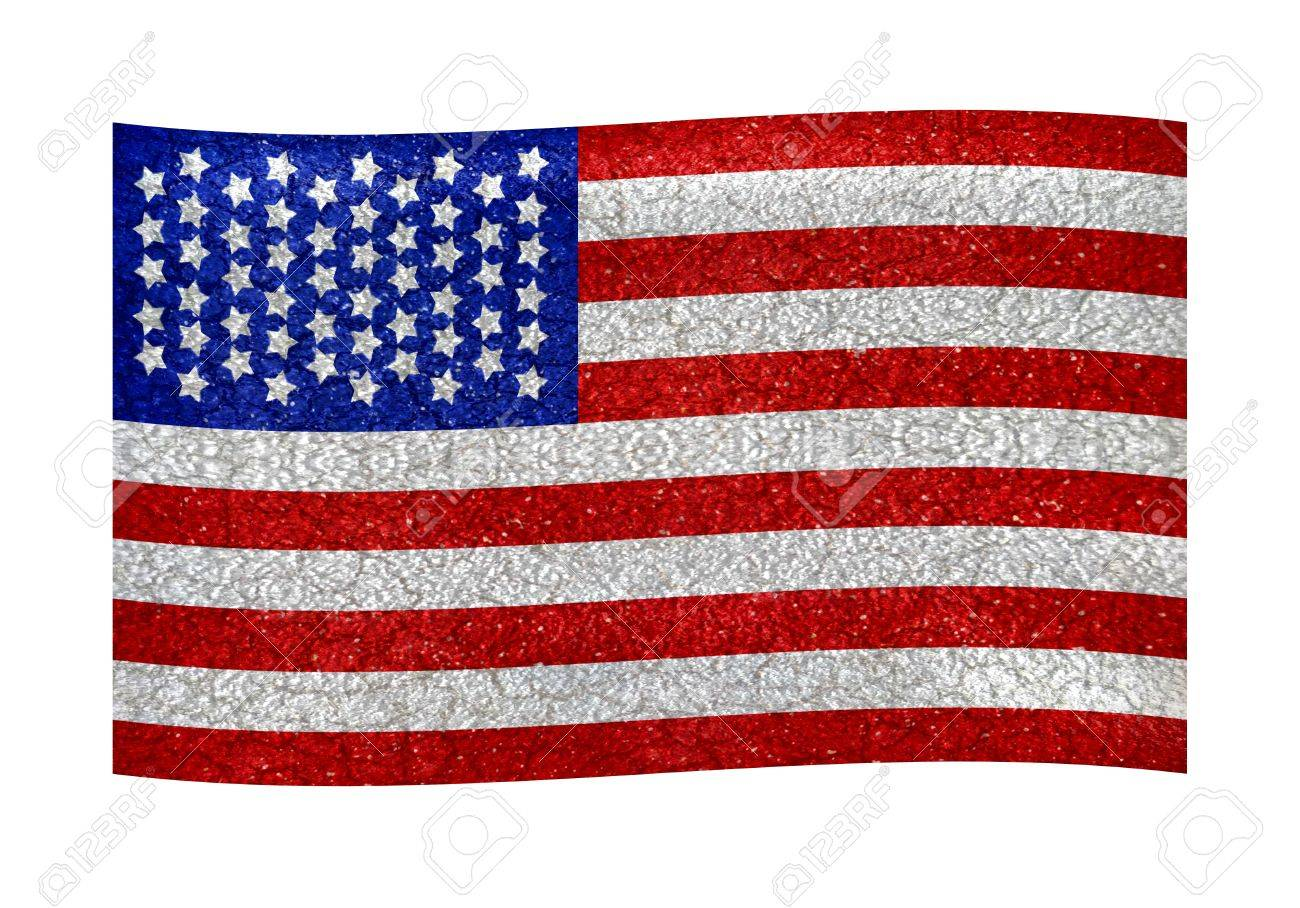 American flag illustration Use it for any kind of design related with america, like patriotic, holidays, sports, etc Stock Illustration - 15138922