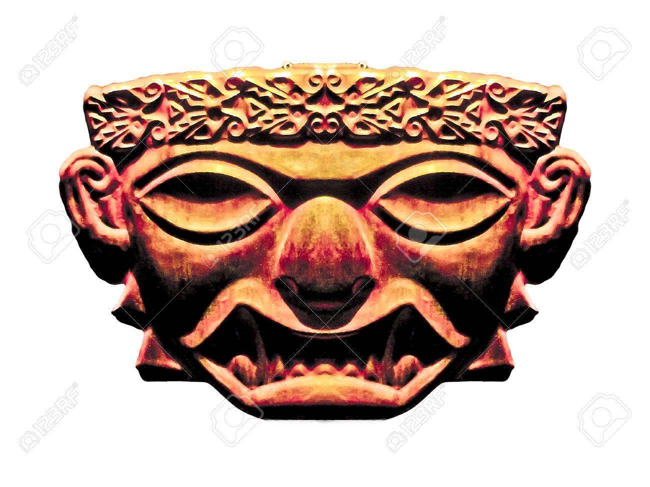 Digital edited and manipulated ancient inca civilization religious