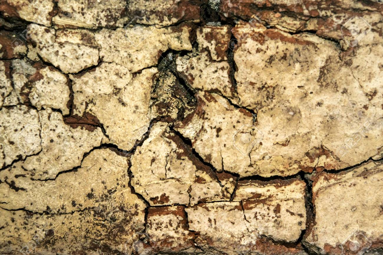 Grunge Cracked Brick Wall Texture In Warm Colors And Wide Screen ...