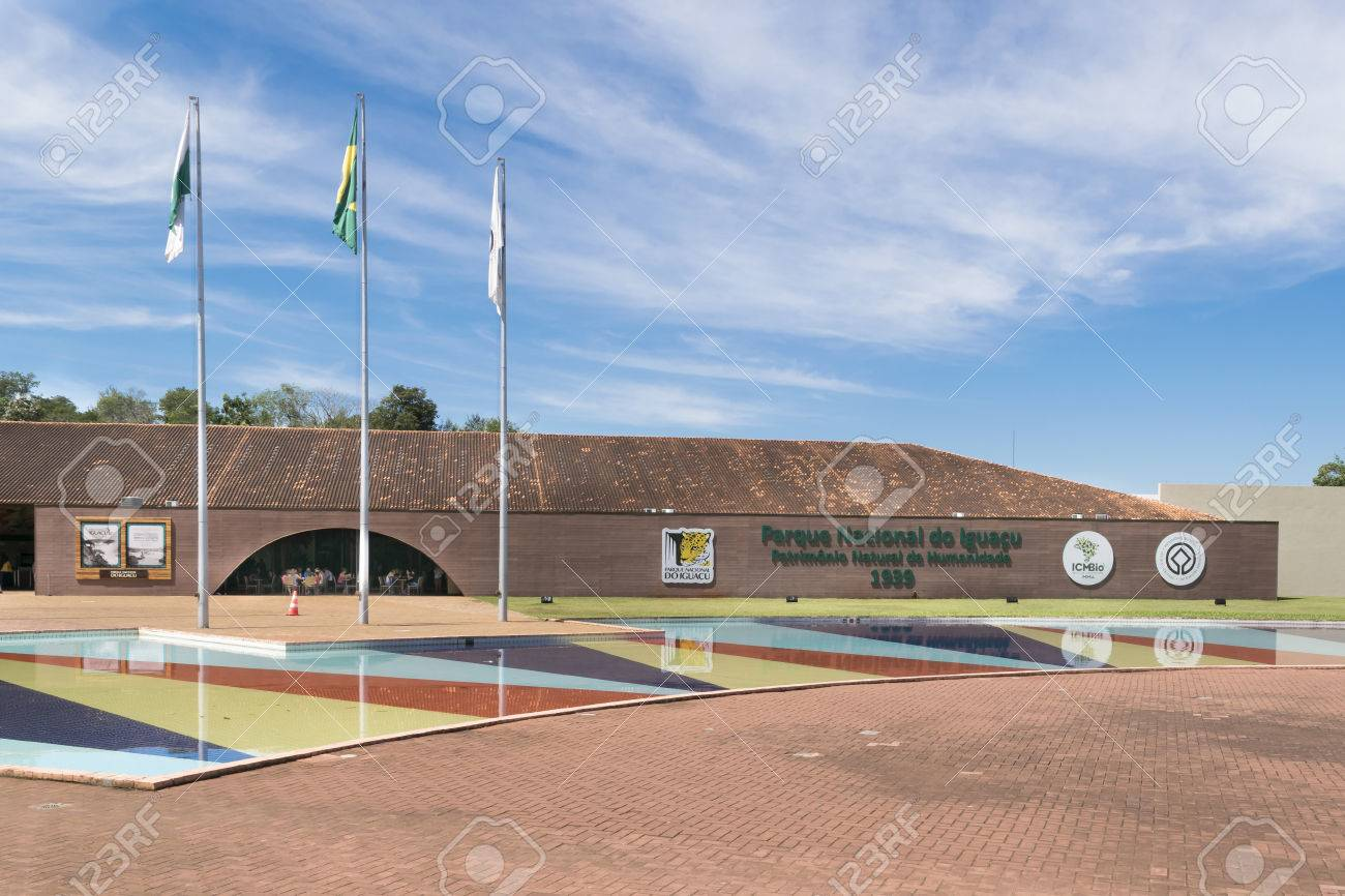 Foz Do Iguacu Brazil March Modern Architecture Entrance