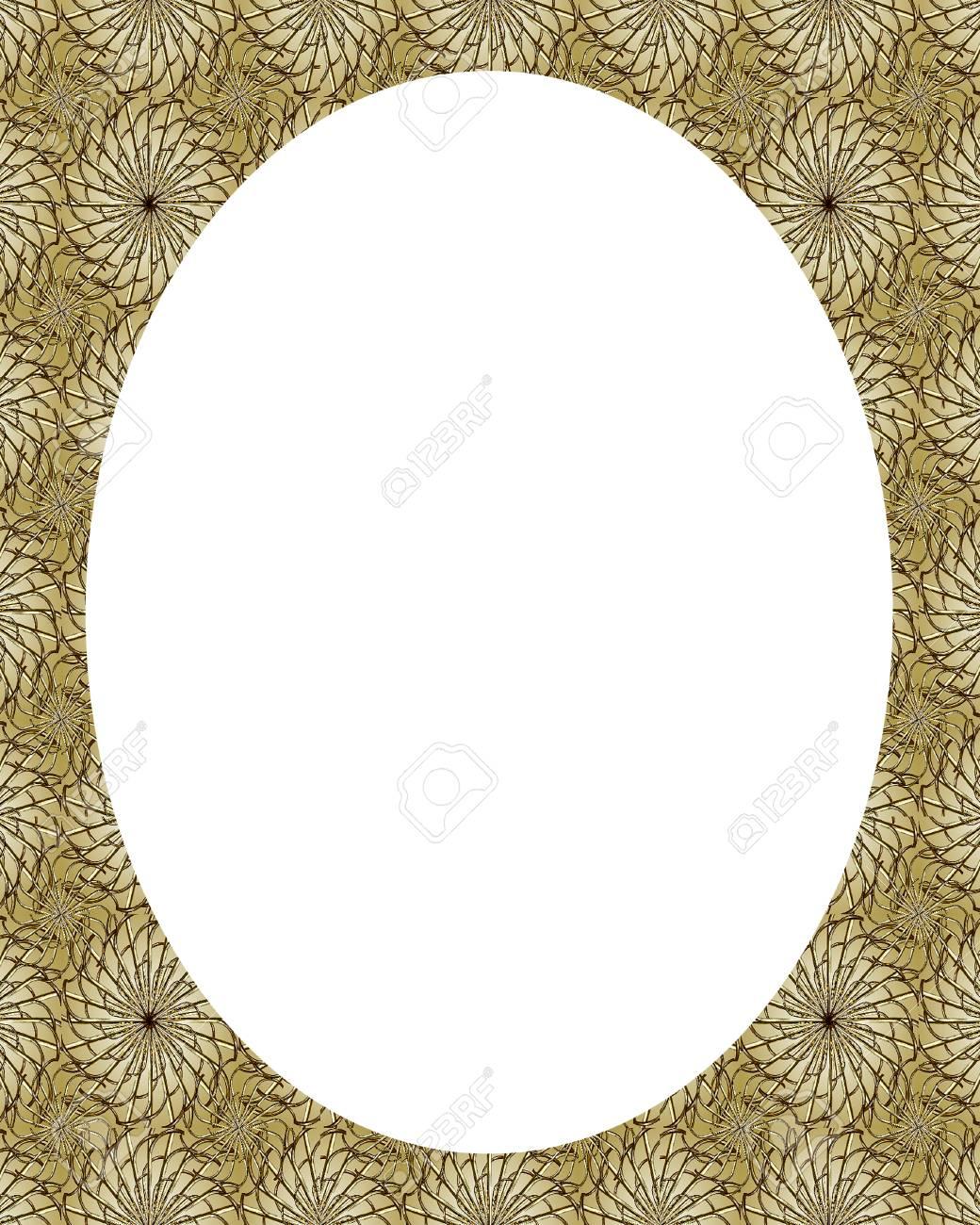 Weißer Kreis Rahmen Hintergrund Mit Orientalischen Verzierten Design ...
