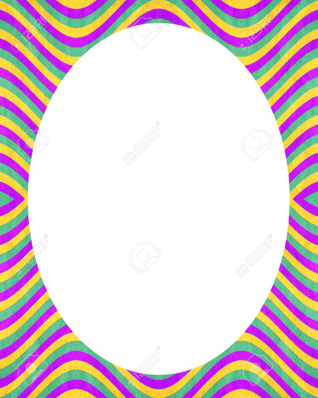 white circle frame background with decorated stripe design borders