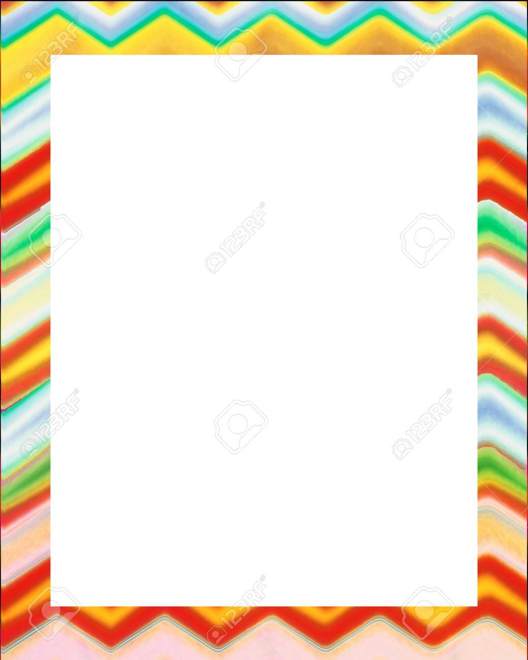 Fondo Del Marco Del Diseño Blanco Con Bordes De Color Estilo Galón ...