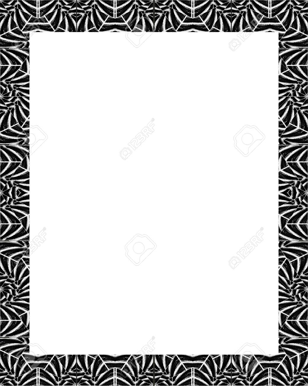 White Frame Background With Decorated Tribal Design Borders. Stock ...