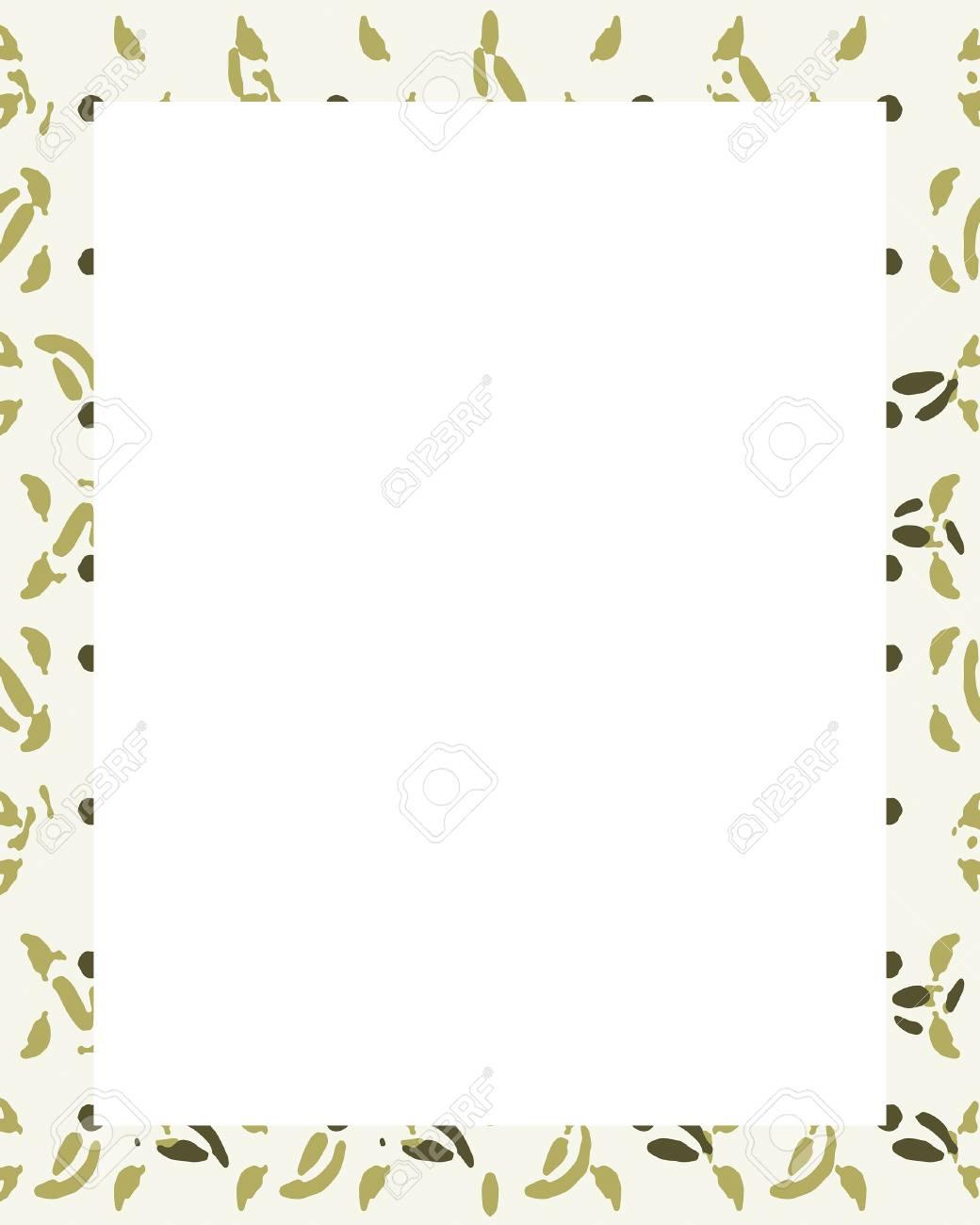 Fondo Del Marco Del Diseño Blanco Con Bordes Decorados. Fotos ...