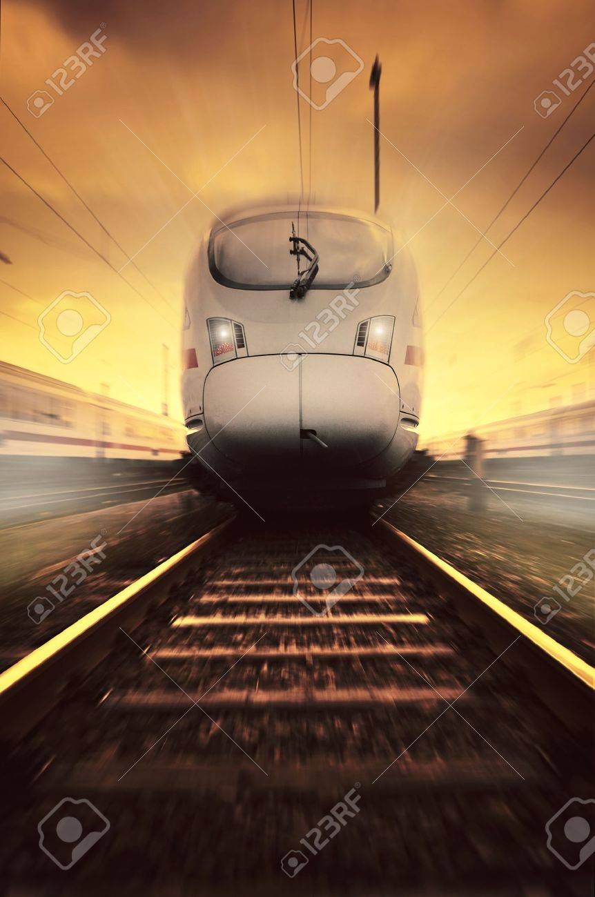 fast moving train Stock Photo - 5204983