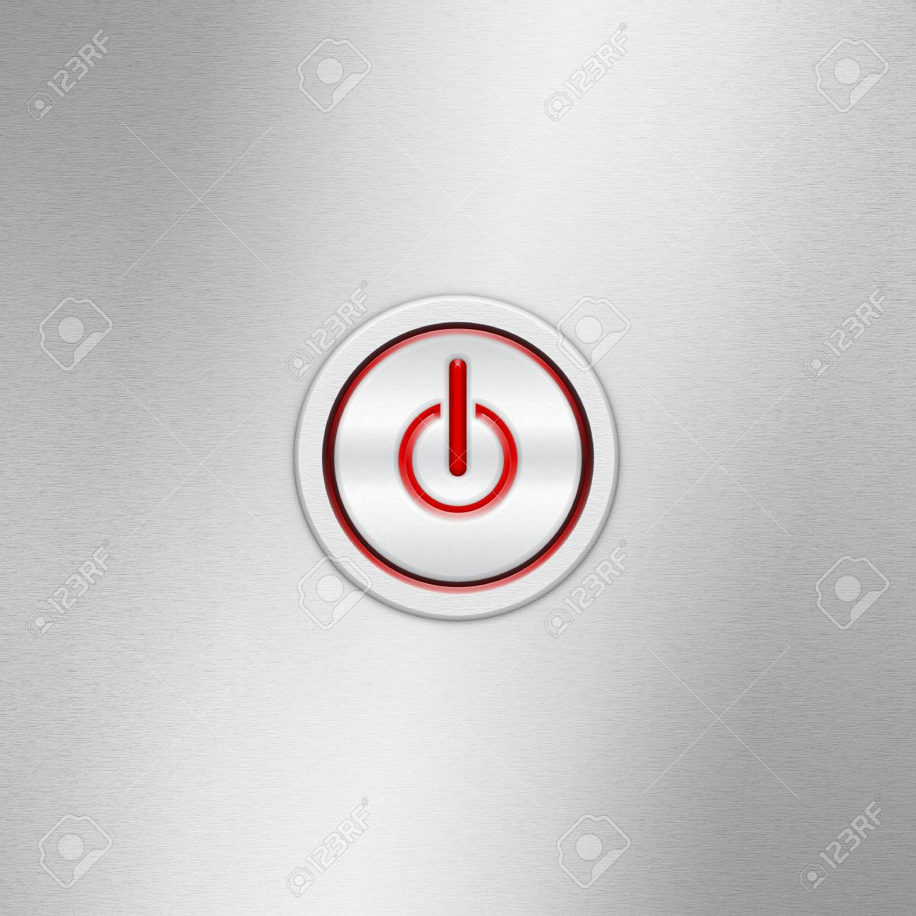 User Interface Switch Button (On/Off). Power Button On A Brushed ...