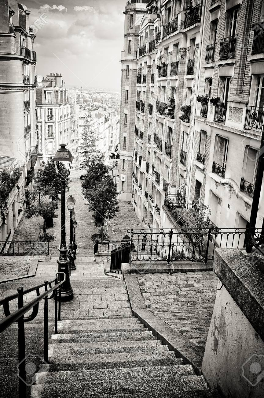 Bohemian Downstairs In The Street Paris France