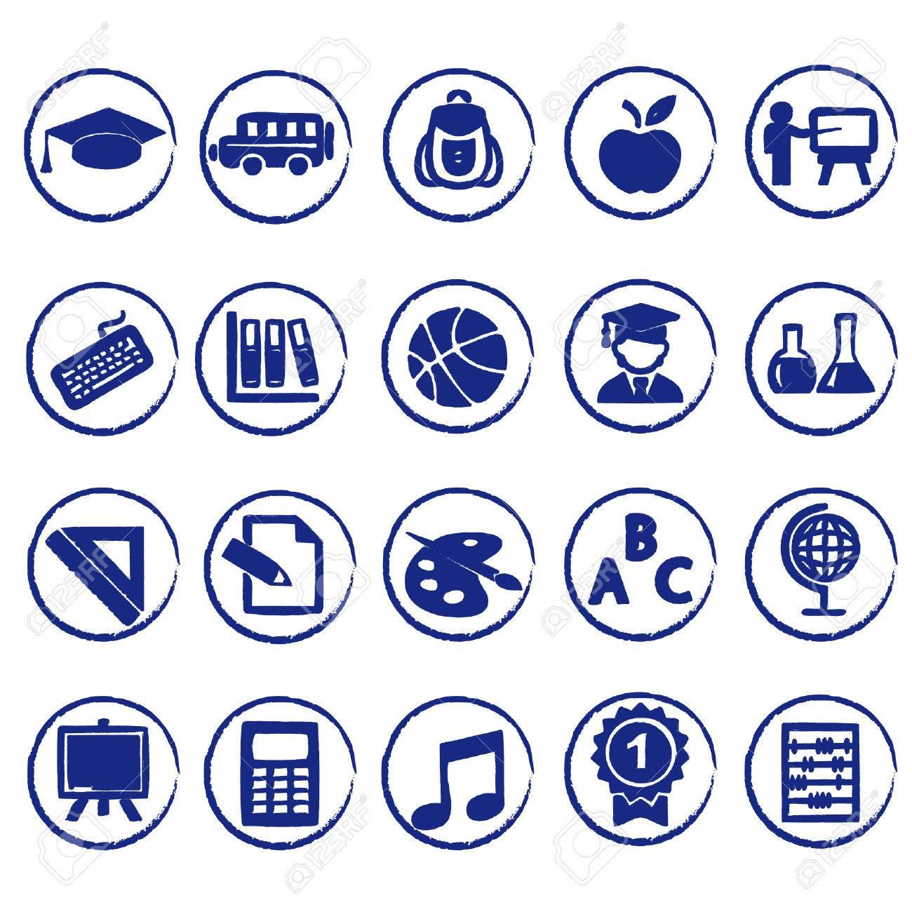 school icons - 37545313