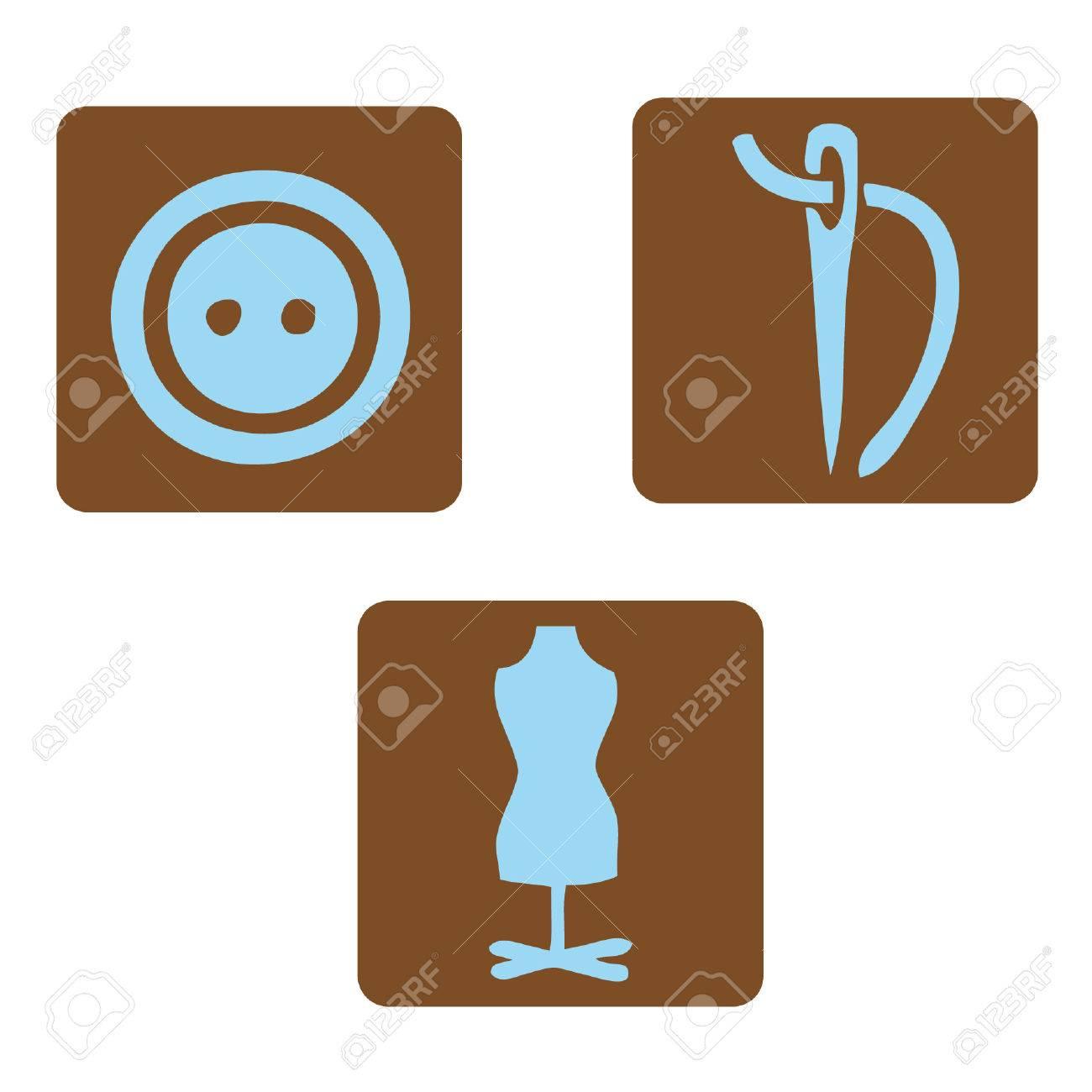 Textile icons - 37545320