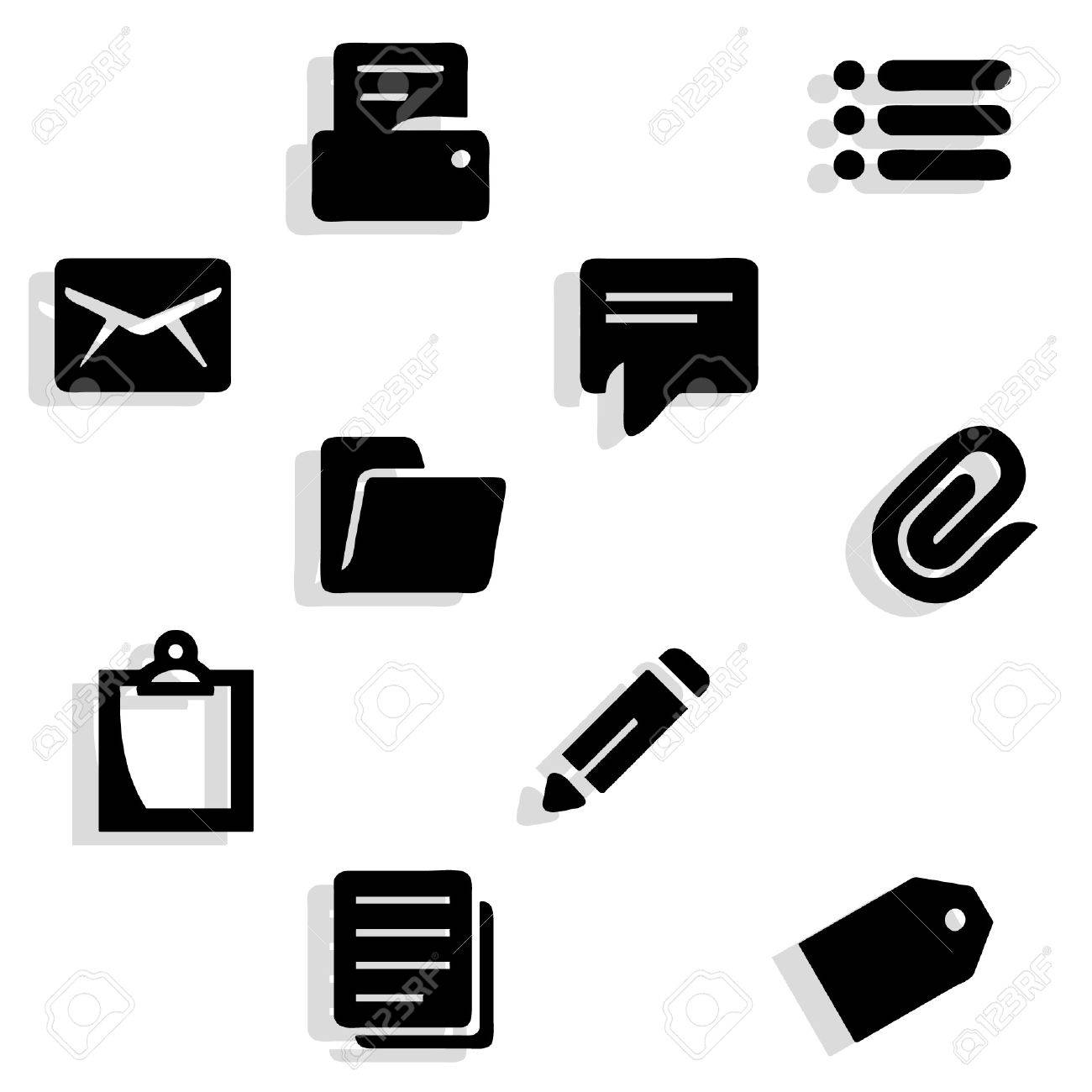 Working documents icons - 37545329