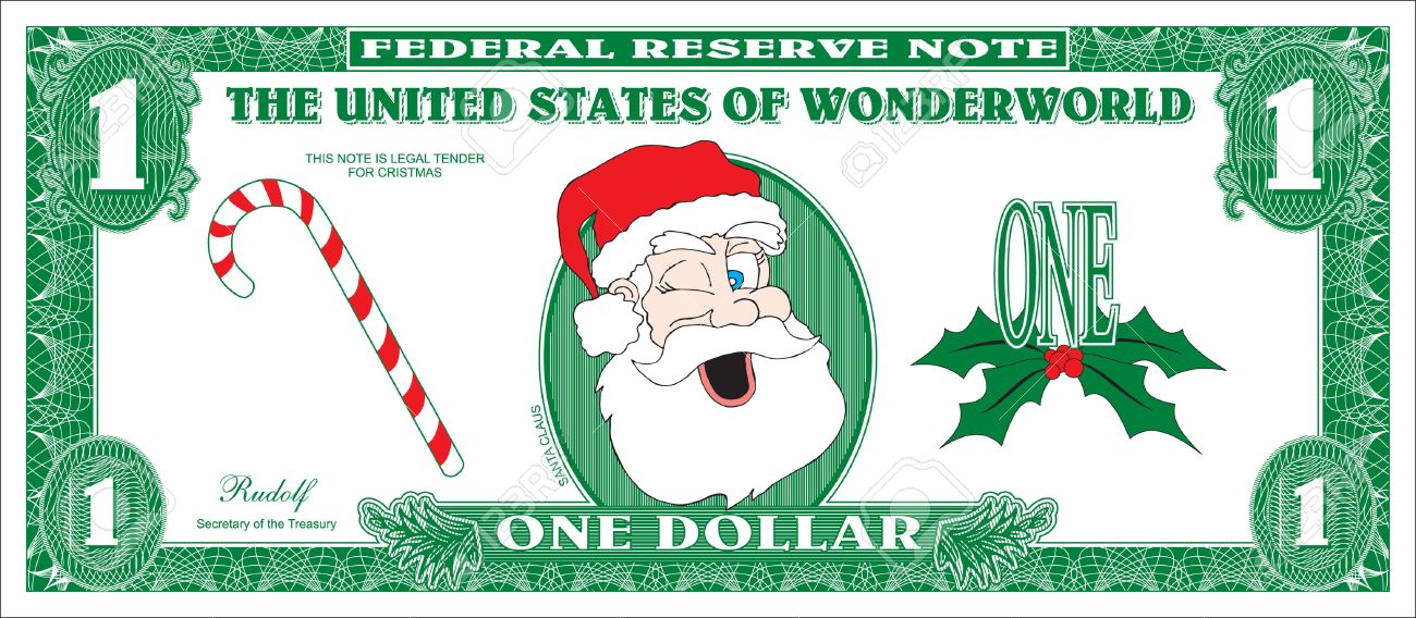 Money For Christmas Royalty Free Cliparts, Vectors, And Stock ...