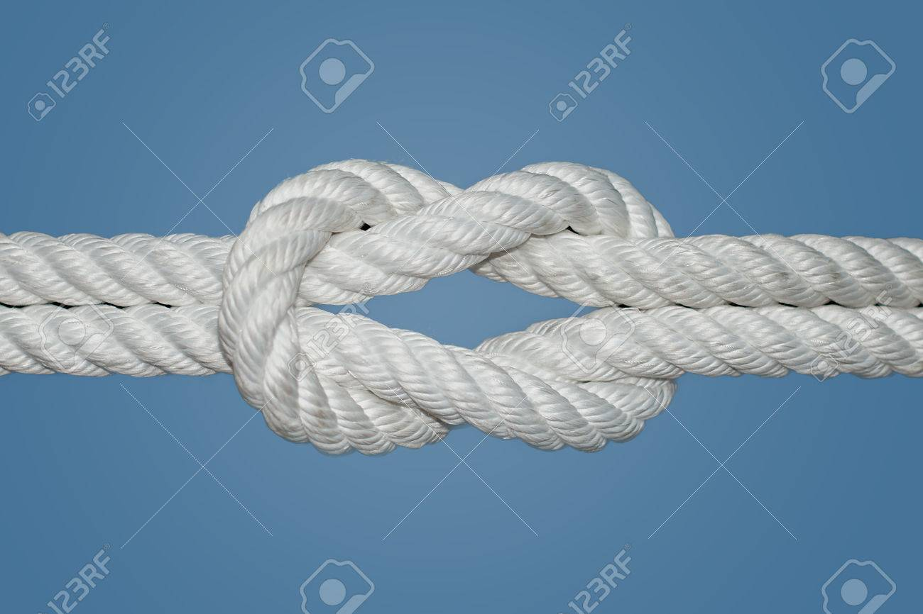 Stock Photo The Reef Knot Or Square Knot Is Quick And Easy To Tie; It
