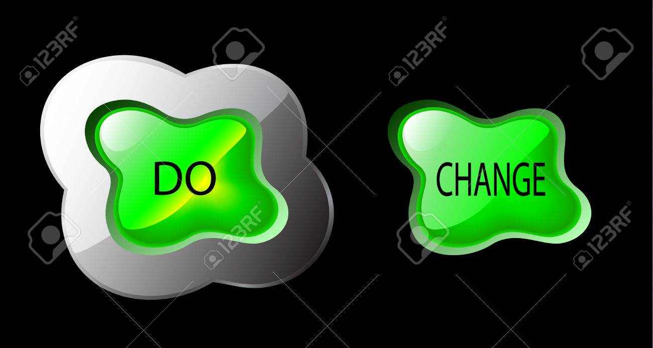 green glowing button, splash form - do change to be different Stock Vector - 3897431