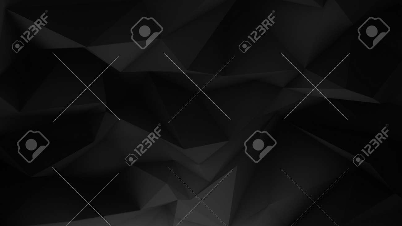black minimalistic background from triangles. - 158500939