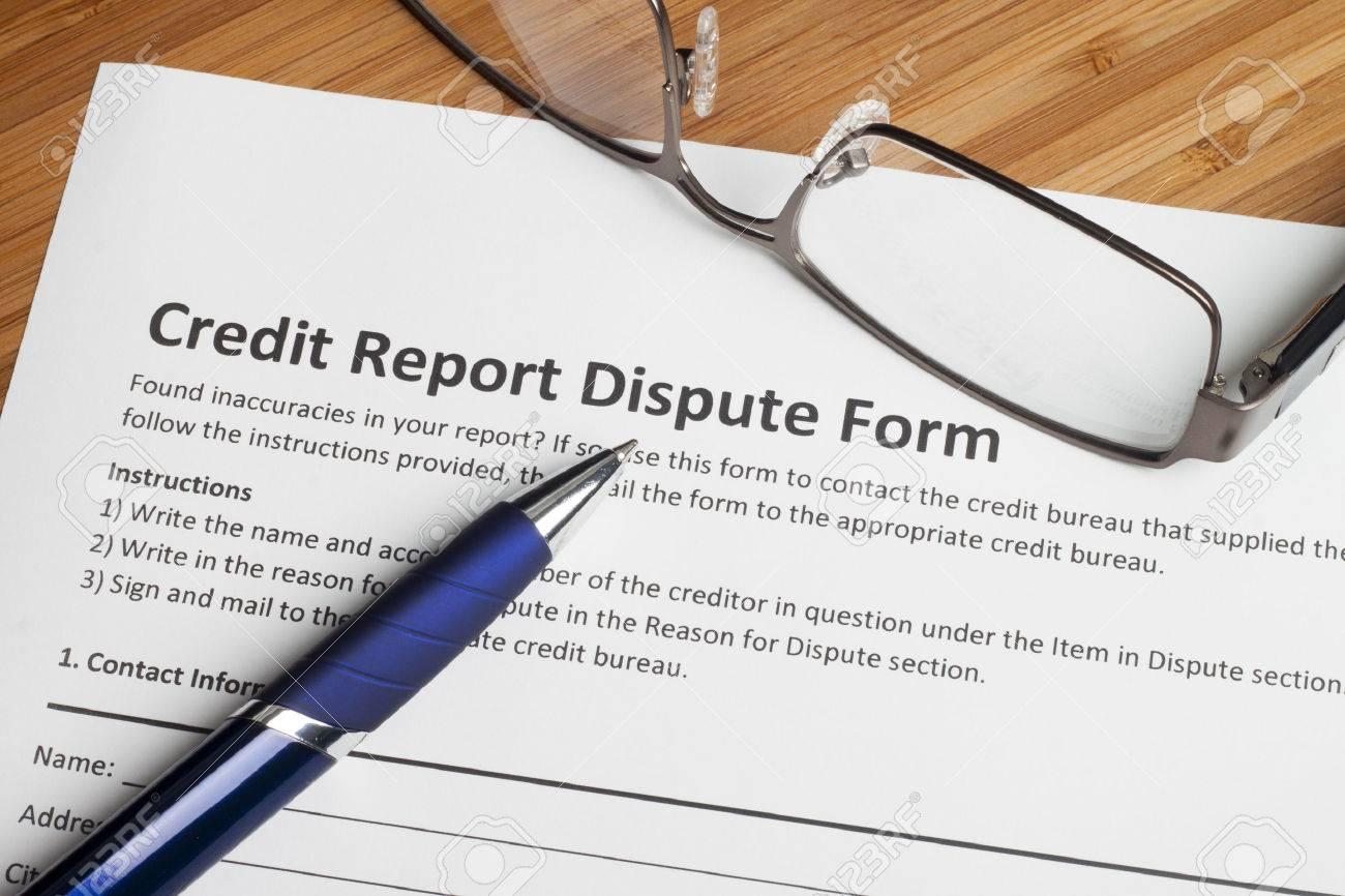 Credit report dispute score on a desk - 42604440