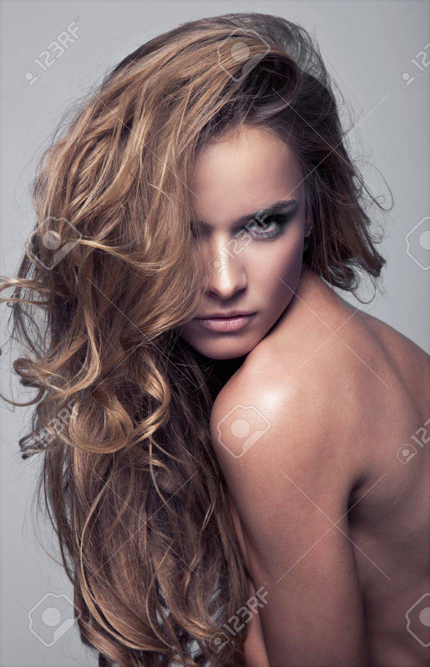 Portrait of a young beauty with sensual expressive face Stock Photo - 12406813
