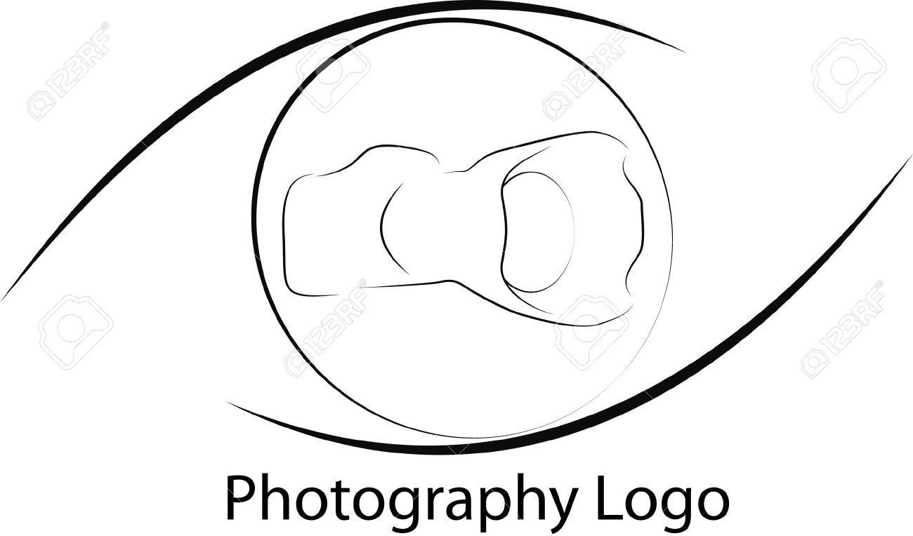 Camera Dslr Camera Logo photo logo with camera and eye forms on black white royalty stock vector 17020062