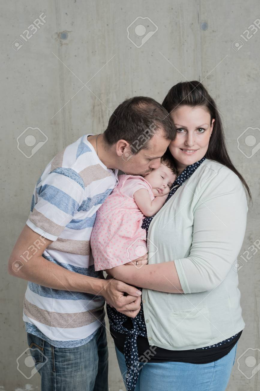 Baby shooting newborn family together stock photo 63542002