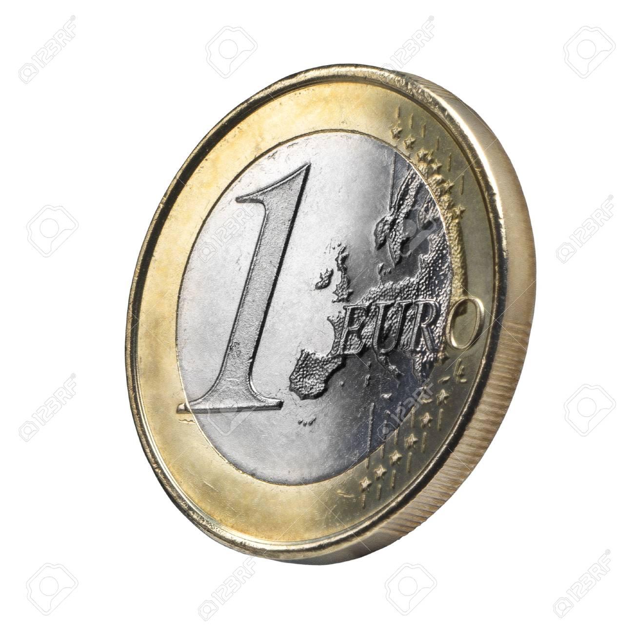 Closeup Euro Münze Ansicht Clipping Pfad Lizenzfreie Fotos Bilder