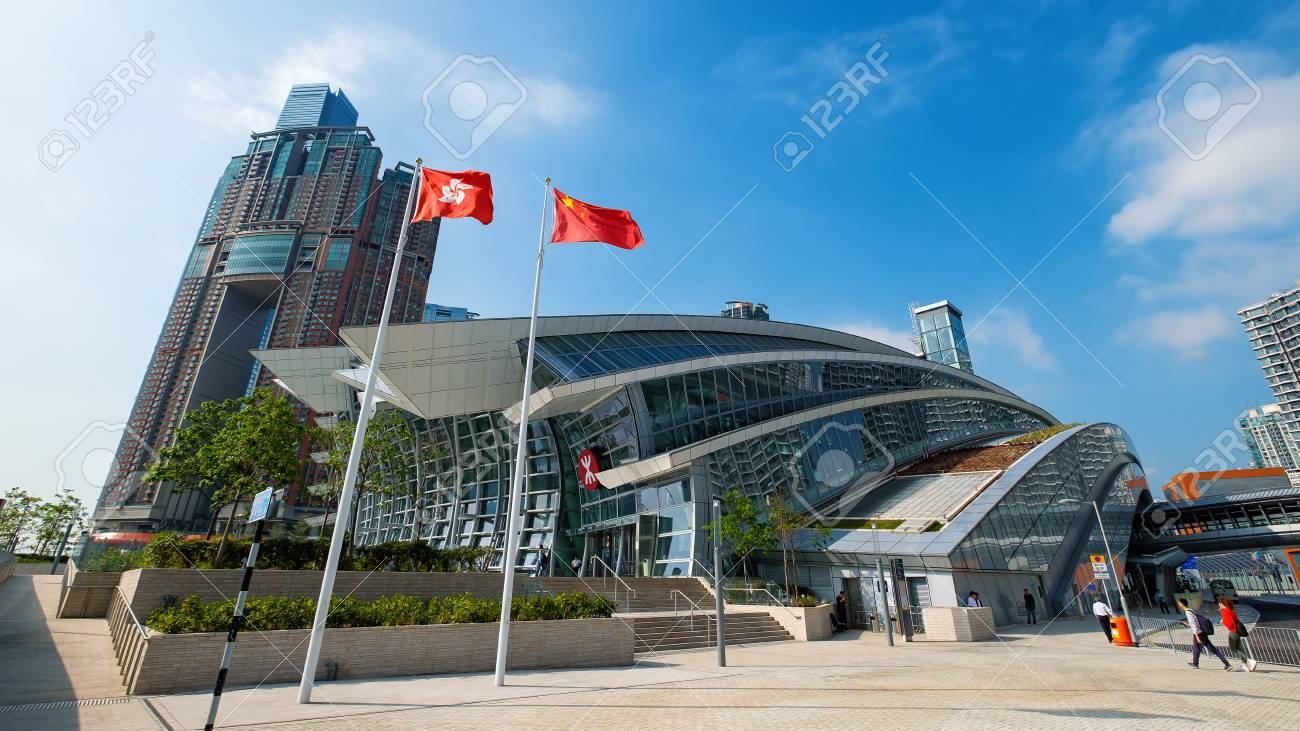 High speed rail station architecture in west kowloon Hong Kong - 116038360