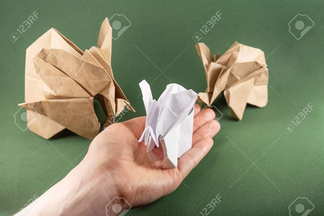 neal elias dollar origami elephant - Google Search | Origami ... | 866x1300