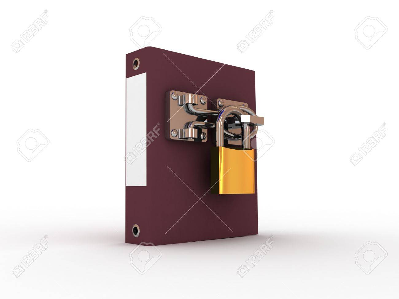 Folder for documents and the padlock with the inscription security, 3D Stock Photo - 11953906