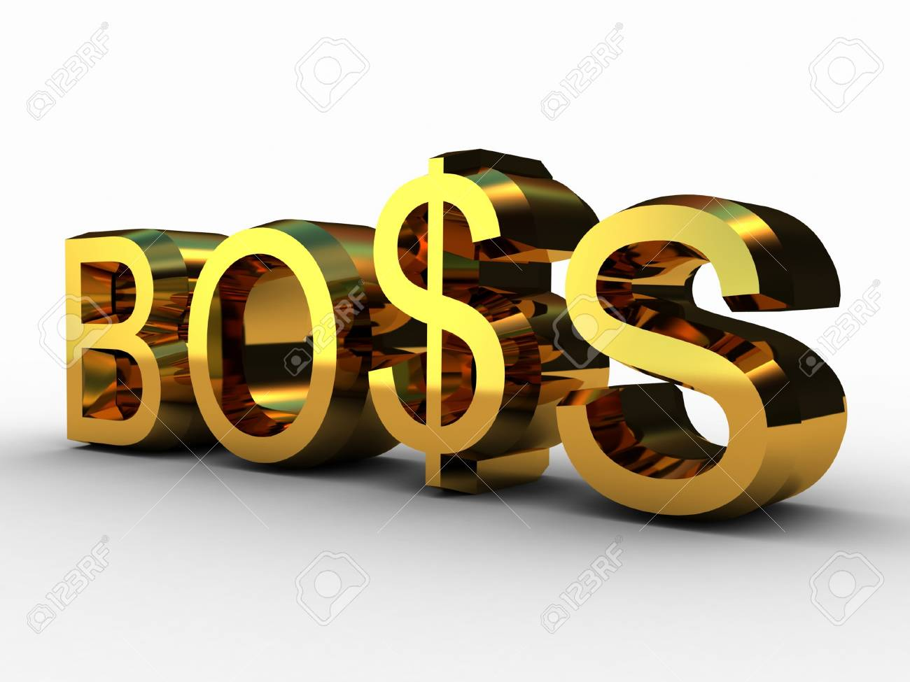 The boss and the dollar , 3D Stock Photo - 11966167